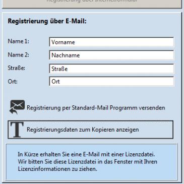 Registrierung ohne Standard Mailprogramm